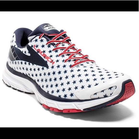 "33157eb773193 Brooks Shoes - Brooks Launch 3 Women s Running Shoes ""Patriotic"""